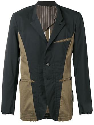 Ziggy Chen two tone deconstructed jacket - Black