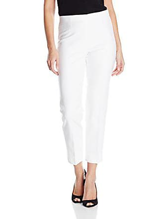 Nic+Zoe Womens Perfect Ankle Pant with Side Zip, Paper White, 4