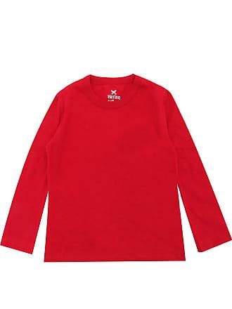 Hering Kids Camiseta Hering Kids Menino Lisa Vermelha