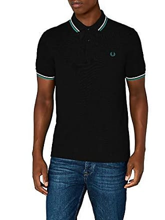 50fa5ff1 Fred Perry Mens Twin Tipped Shirt-M3600, Black/Snow White/Fanfare Small