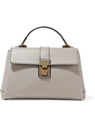 Bottega Veneta Piazza Medium Intrecciato-paneled Leather Tote - Gray a50bf3ff7ebd1