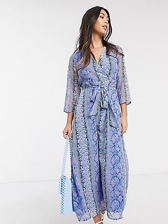 Y.A.S Y.A.S petite maxi dress in snake print-Multi