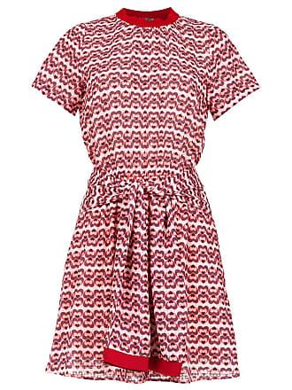 779b8047d Pop Up Store Vestido curto estampado e amarração - Vermelho