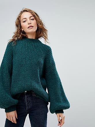 Weekday Rib Crew Neck Sweater - Green