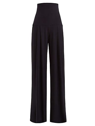 1dd6fbf0fcca7 Norma Kamali High Rise Pleated Wide Leg Trousers - Womens - Navy