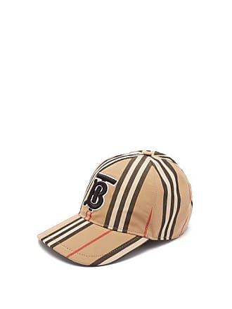 337caec0504 Burberry Icon Stripe Cotton Baseball Cap - Mens - Beige Multi