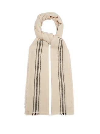 Isabel Marant Striped Cashmere Scarf - Mens - Cream