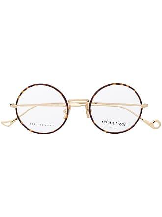 Eyepetizer Armação de óculos redonda - Marrom