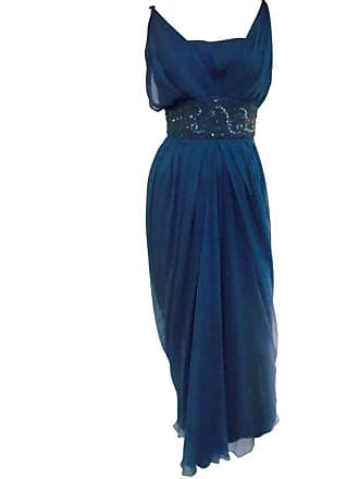 e31456d4654 1stdibs 1960s Royal Blue Silk Chiffon Draped grecian Style Gown W  Jeweled  Cummerbund