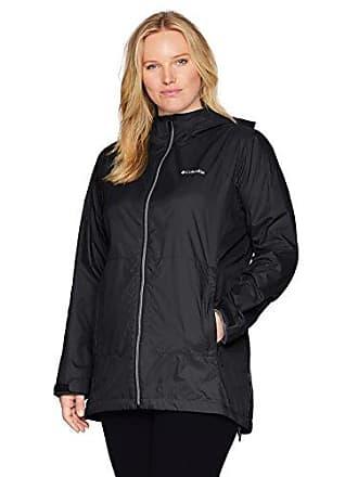 Columbia Womens Plus Size Switchback Lined Long Jacket, Black, 2X