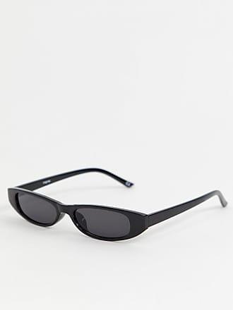 Reclaimed Vintage Inspired - Exclusivité ASOS - Lunettes de soleil fines  ovales - Noir - Noir f1a8616a9c3c