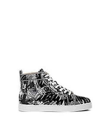462c10990c5 Christian Louboutin Mens Louis Graffiti-Print Leather Sneakers - Black Size  6 M