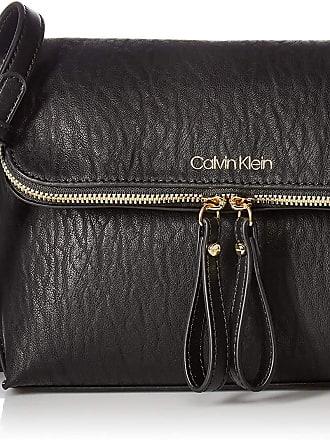 Calvin Klein Womens Elaine Bubble Lamb Novelty Key Item Flap Crossbody Cross Body, Caramel, One Size
