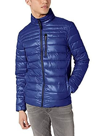 Calvin Klein Mens Alternative Down Packable, Marlin Blue, M