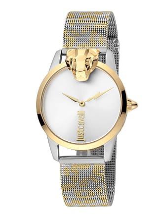 Just Cavalli 3D Animal Watch w/ Mesh Strap, Gold/Silver