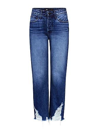 3x1 Higher Ground Boyfriend Distress Crop Jeans Blue