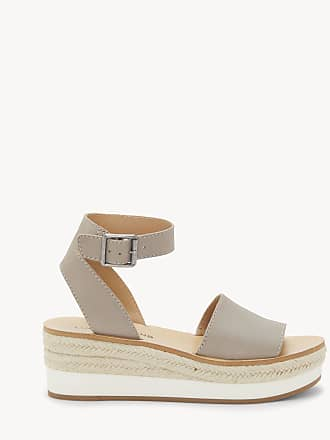 Lucky Brand Womens Joodith Platform Wedges Stone Size 12 Leather From Sole Society