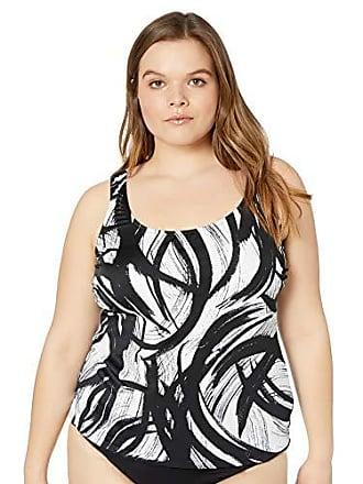 ca7112696dc Maxine Of Hollywood Womens Plus-Size Scoop Neck Side Tie Tankini Swim Dress  One Piece