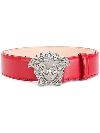 Versace Medusa buckle belt - Red