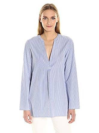 Theory Womens Ofeliah Taff Stripe Top, Blue/White, L