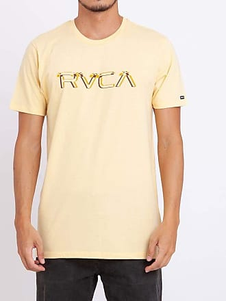 Rvca Camiseta Rvca Big Glitch Amarela