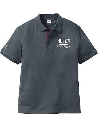 9f57fb76cde0 John Baner Jeanswear Bonprix - Polo Regular Fit gris manches courtes pour  homme