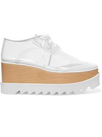 Stella McCartney Elyse Pu And Faux Leather Platform Brogues - White