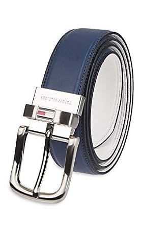 8246650e5b979b Tommy Hilfiger Reversible Leather Belt - Casual for Mens Jeans with Double  Sided Strap and Silver