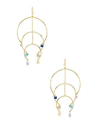 Gorjana Luca Shimmer Arc Mobile Earrings in Metallic Gold