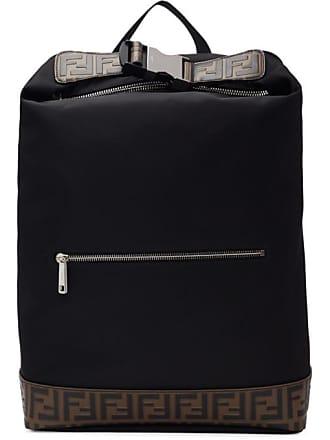 Fendi Black Forever Fendi Rolled Clip Backpack 340c213994c1b