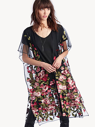 acd122017 Sole Society Womens Sheer Embroidered Kimono Multi One Size Polyester From  Sole Society