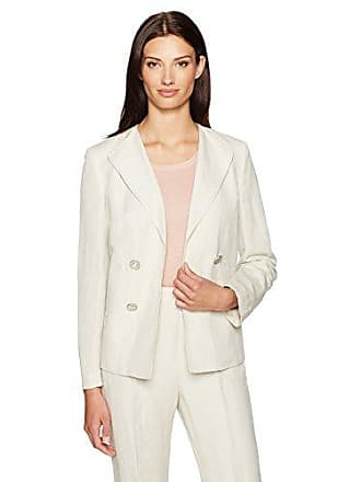 Kasper Womens Double Breasted Linen Jacket, Sandalwood 6