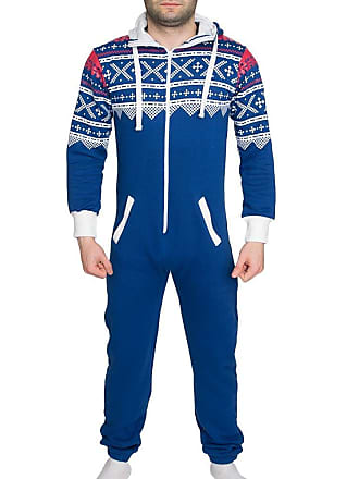 de52efdd8c1c Shelikes Mens Womens Unisex One Direction Rihanna Aztec Camouflage Hooded  Onesie Jumpsuit - Royal Blue -