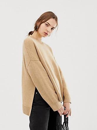 Weekday high neck sweater in Beige - Beige