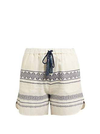 Zeus + Dione Paxi Geometric Jacquard Cotton Blend Shorts - Womens - Ivory Multi