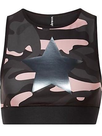 7374d44155 Ultracor Knockout Appliquéd Camouflage-print Stretch Sports Bra - Black