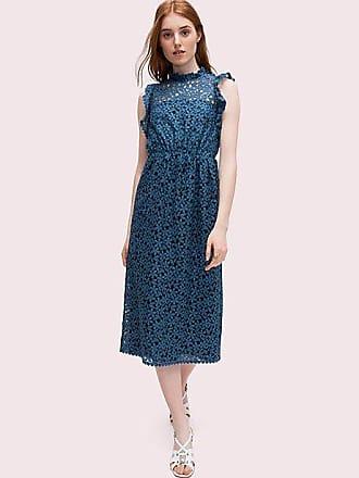 Kate Spade New York Flora Lace Ruffle Dress, Antique Blue - Size 10