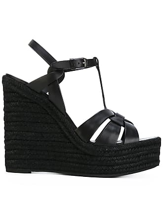 007dab706257 Saint Laurent Tribute espadrille wedge sandals - Black