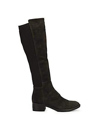ce4add0676f Kenneth Cole Levon Suede   Rib Knit Knee High Boot Dark Grey