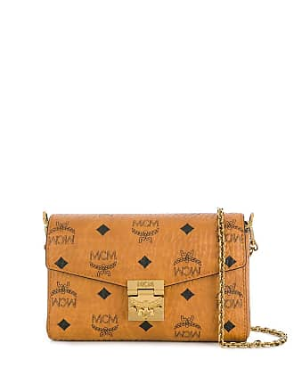 MCM monogram print belt bag - Brown