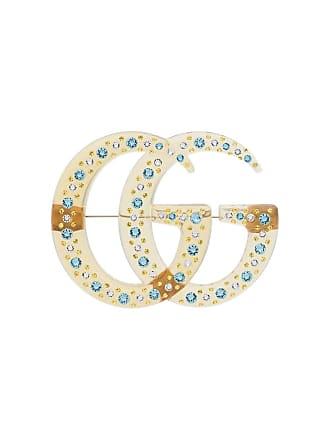 b1db930bd31 Gucci GG crystal brooch - Yellow