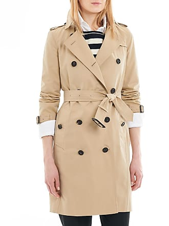 c7d597694b0e Burberry Trench mi-long femme The Kensington Heritage Beige Burberry