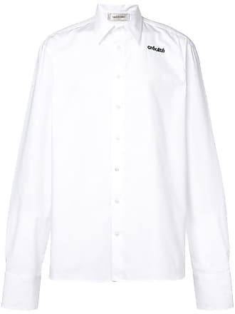 Wales Bonner Camisa com bordado - Branco