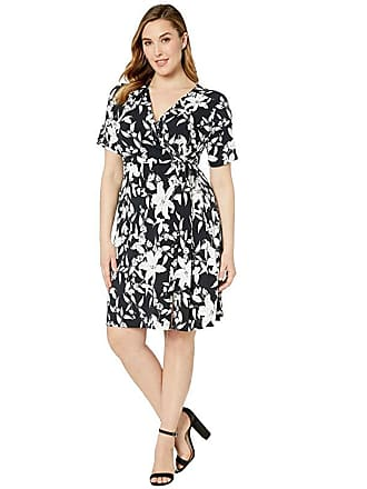 68b99637ad81 Karen Kane Plus Plus Size Faux Wrap Dress (Print) Womens Clothing