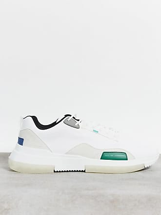 Bershka trainers in white with contrast sole