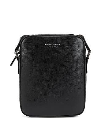 BOSS Signature Collection cross-body bag in structured Italian leather