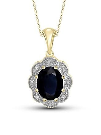JewelersClub JewelersClub 1.95 Carat T.G.W. Sapphire Gemstone and White Diamond Accent Pendant