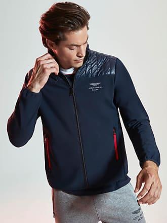 Aston Martin Mens Soft-Shell & Nylon Water-Repellent Jacket | XS | Navy