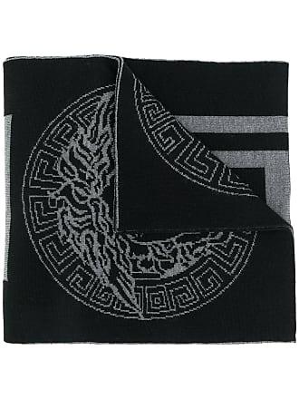 Versace Greek Key knit scarf - Black