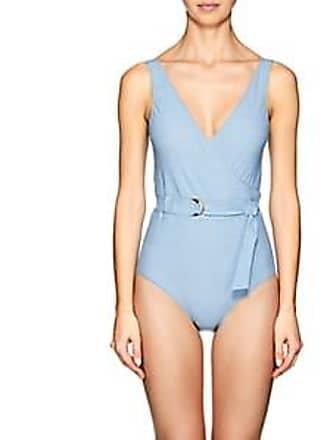 593cbeb429bde Lisa Marie Fernandez Womens Yasmine Denim-Effect One-Piece Swimsuit - Lt.  Blue